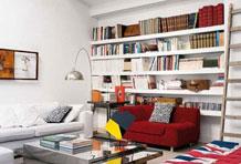嵌入式收纳沙发墙 极致空间利用