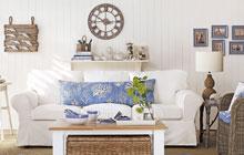 清新沙发背景墙 美丽家的时尚道具