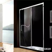 德莉瑪淋浴房 一字型不銹鋼淋浴房PG101(含送貨安裝 全包)