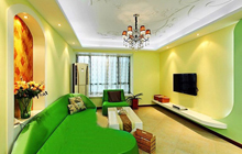 小户型墙面色彩之清新绿
