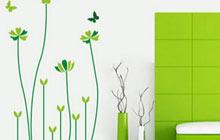 绿色情调的墙贴 满眼的小清新