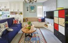 75平美式混搭风格二居室装修