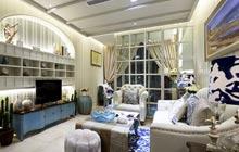 85平地中海风格样板房装修 碧海蓝天浪漫家
