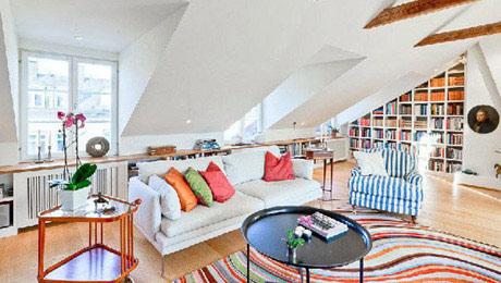 阁楼的轻资小调 10个小客厅布置图片