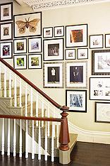楼梯空间新创意 10款照片墙设计图