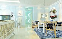 客厅与餐厅的分割线 13张地中海过道图片