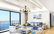 抬头看风景 22款地中海客厅吊顶设计