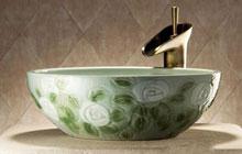 绿植花纹—莫耶田园风艺术陶瓷台盆