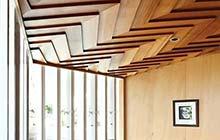 吊顶翻新玩儿创意 11个木质吊顶惊艳家