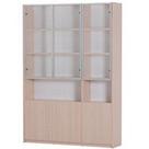 现代简约书柜书架玻璃门